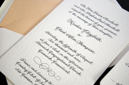 Kristin's Wedding Invitation