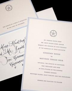 Mustique Wedding Invitation